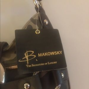 Bruce Makowsky Bags - Bruce Makowsky Leather Camo Shoulder Bag